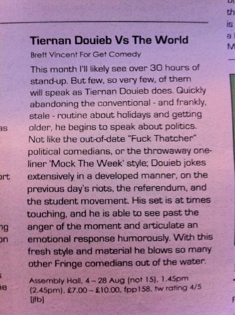 Tiernan Douieb VS The World